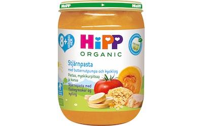 HIPP pasta myskikurpitsa kana 190g 8kk luomu