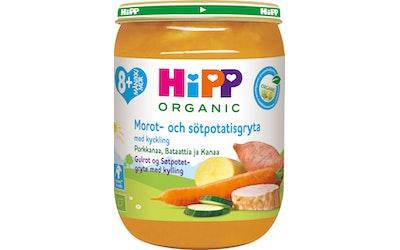 HiPP 8kk porkkanaa, bataattia ja kanaa 190g luomu
