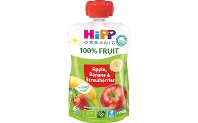 HiPP HiPPiS Luomu Omenaa Banaania ja Mansikkaa 100g 6kk