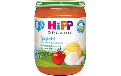 HIPP spagettia tomattia & mozarellaa 8kk 190 g luomu