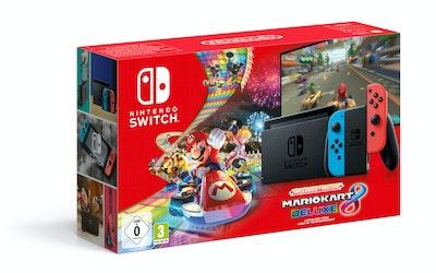 Nintendo Switch pelikonsoli 2019 + Mario Kart 8 Deluxe - kuva