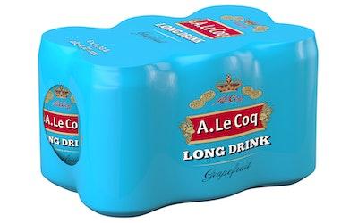A. Le Coq Long Drink Grapefruit 4,7% 0,33l 6-pack