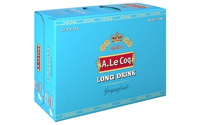 A. LeCoq Long drink 0,33L tlk x12-pakki Grape 4,7%