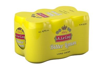 A. Le Coq Bitter Lemon Long Drink 4,7% 0,33l 6-pack