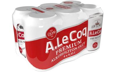 A.Le Coq Premium 0,0% 0,33l 6-pack