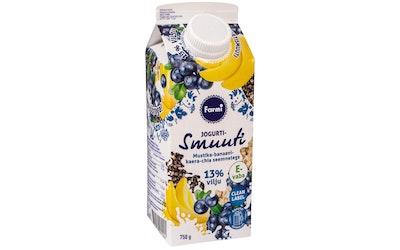 Farmi jogurttismoothie 750g mustikka-banaani-kaura-chia