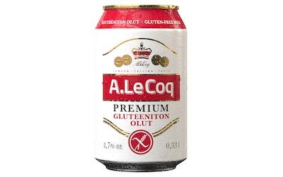 A.Le Coq olut 4,7% 0,33l gluteeniton