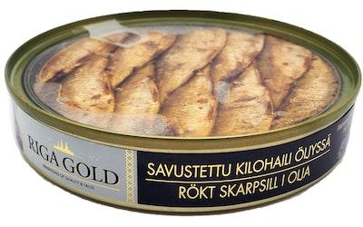 Riga Gold Savustettu kilohaili öljys 120g