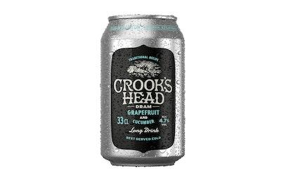 Crooks Head dram grapefruit-cucumber 4,7% 0,33l