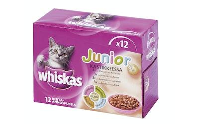 Whiskas Junior kastikkeessa 12x100g