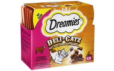Dreamies deli catz 5x5g härkä