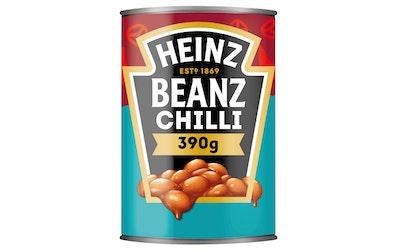 Heinz Chili beans valkoisia papuja 390g mausteisessa tomaattikastikkeessa