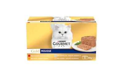 Gourmet Gold Mousse-lajitelma 4x85g kissanruoka