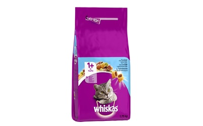 WHISKAS 1+ Tonnikalaa 1,75kg täysrehua aikuisille kissoille