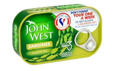 John West sardiinit oliiviöljyssä 120/90g