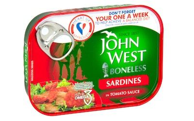 John West ruodottomat sardiinit tomaattikastikkeessa 95/62g