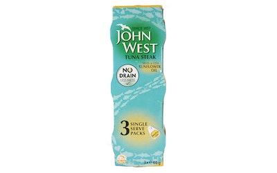 John West Tonnikalafilepaloja auringonkukkaöljyssä 3x60g
