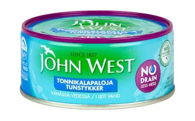 John West meheviä valutettuja tonnikalapaloja vähässä vedessä 120g