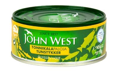 John West Tonnikalapalat auringonkukkaöljyssä 145 g/95 g