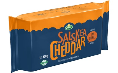 Arla Salskea Cheddar juusto 400g lasktoositon
