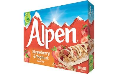 Alpen Strawberry & Yoghurt myslipatukka 5x29 g