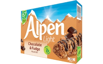 Alpen Light 5x19g Chocolatefudge patukka