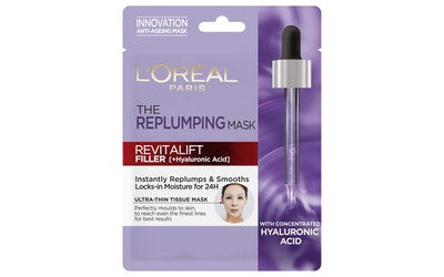 L'Oréal Paris Revitalift Filler Replumping Tissue Mask täyteläistävä ja kosteuttava kangasnaamio 30g - kuva