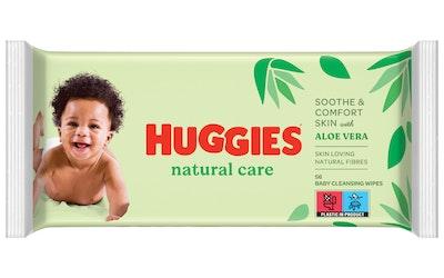 Huggies Natural Care puhdistuspyyhe 56kpl