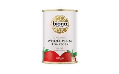 Biona kokonainen kuorittu tomaatti 400g luomu