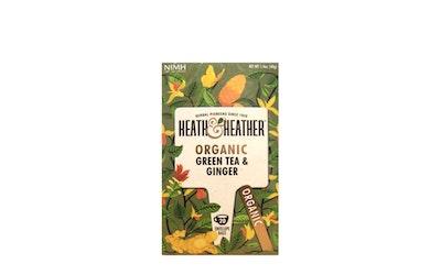 H&H vihreä tee ja inkivääri 20ps luomu
