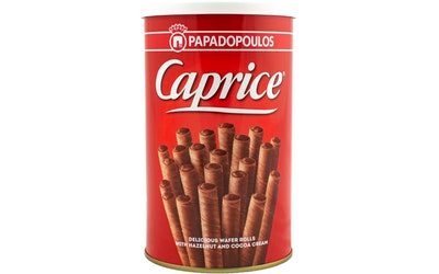 Caprice hasselpähkinä kierrevohveli 250 g