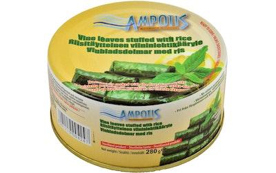 Ampotis viininlehtikääryleet riisitäytteellä 280 g