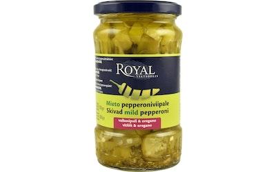 Royal viipaloitu pepperoni valkosipuli & oregano 350/200 g