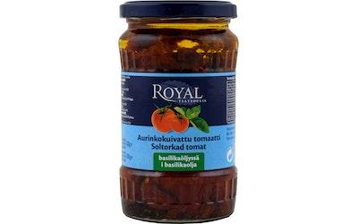 Royal Aurinkokuivattu tomaatti basilikaöljyssä 200 g
