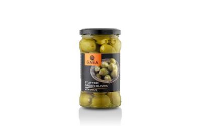 Gaea vihreä oliivi valkosipulitäytteellä 295/170g