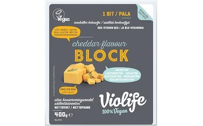 Violife 400g cheddarmakuinen kasviperäinen juustovaihtoehto