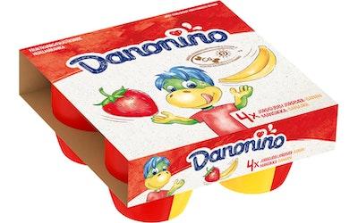 Danonino Duo 4x95g mansikka-banaani hedelmärahka