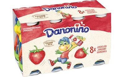 Danone Danonino 8x100g mansikka jogurttijuoma