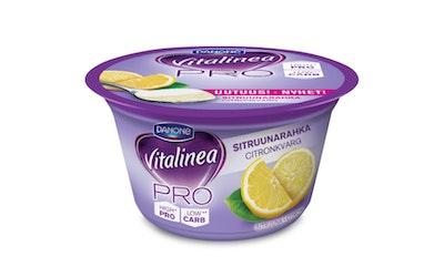 Danone Vitalinea PRO maustettu rahka 0% 160g sitruuna