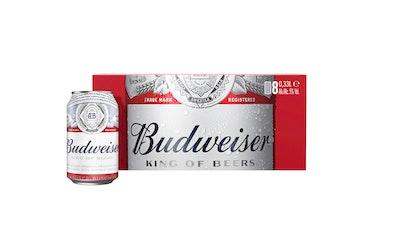 Budweiser olut 5,0% 0,33l 8-pack