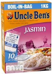 Uncle Ben's jasmiiniriisi keitinpusseissa 8x125g