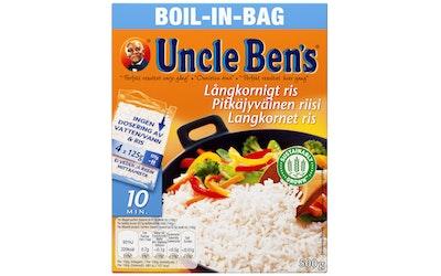 Uncle Ben's pitkäjyväinen riisi keitinpusseissa 4x125g