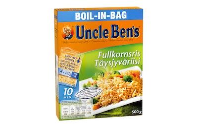 Uncle Ben's täysjyväriisi keitinpusseissa 4x125g