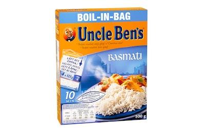 Uncle Ben's basmatiriisi keitinpussissa 4x125g