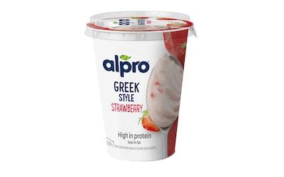 Alpro Greek Style soijavalmiste 400g mansikka