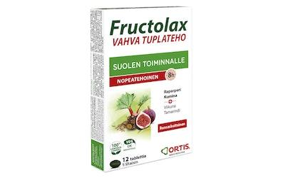 Fructolax Vahva Tuplateho runsaskuituinen ravintolisätabletti 11g/12 kpl