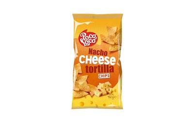 Poco loco nacho cheese tortilla chips 450g maissilastu