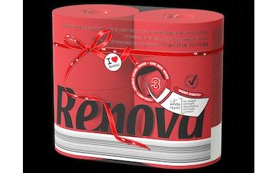 Renova WC-paperi 4rl punainen