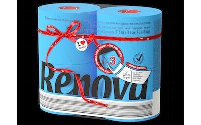 Renova WC-paperi 4rl sininen