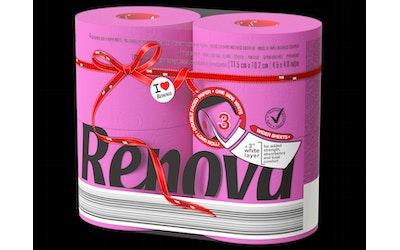 Renova WC-paperi 4rl pinkki